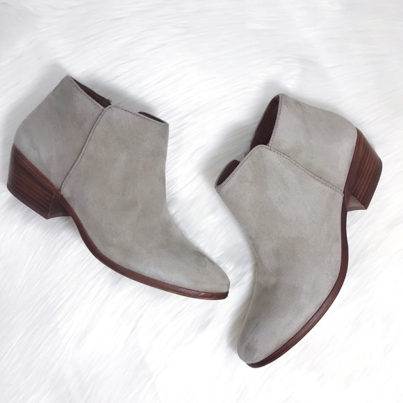 6c2805583698f Sam Edelman Shoes - Sam Edelman Petty Chelsea Suede Ankle Bootie Putty